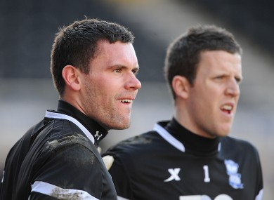 Birmingham City goalkeeper's Ben Foster (left) and Colin Doyle (right).