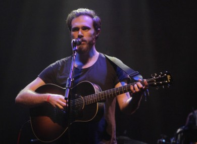 James Vincent McMorrow onstage at the Choice Music Prize ceremony earlier this year