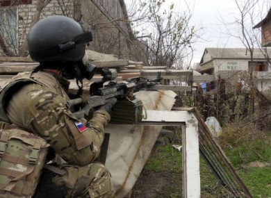 File photo of a Russian Special Forces officer during a raid in Dagestan last year.