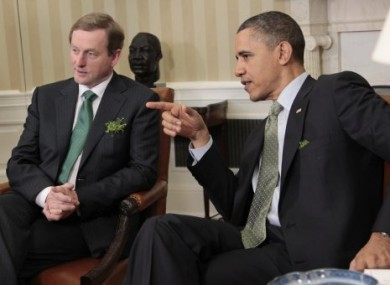 Taoiseach Enda Kenny meeting with Barack Obama on St Patrick's Day 2011.