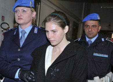 Amanda Knox arriving in court in March 2011.