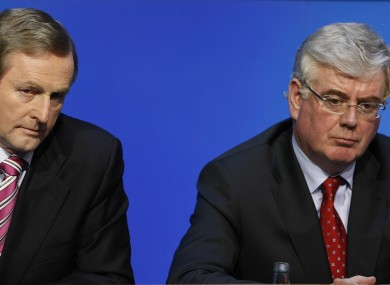 Enda Kenny and Eamon Gilmore earlier this year.