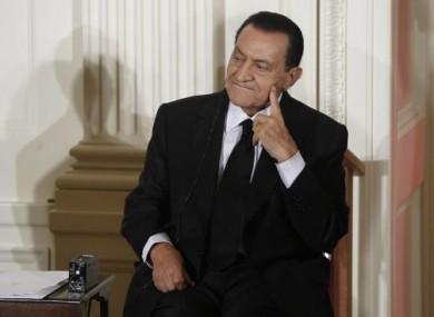 Former president of Egypt Hosni Mubarak photographed at the White House in Washington on 1 September 2010.
