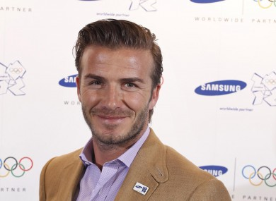 Beckham was in London on Wednesday.