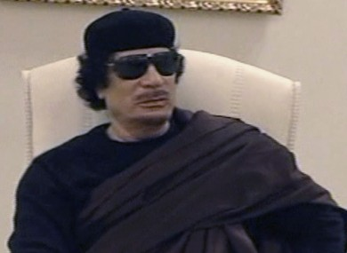 Gaddafi in a television appearance on Libyan state TV on Wednesday.