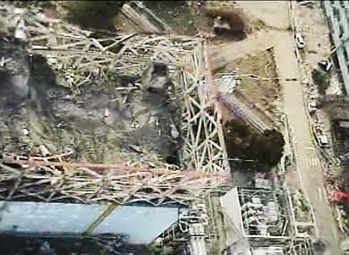 A photo of the devastation at Fukushima taken last month.