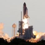 The space shuttle Endeavour lifts off. (AP Photo/Marta Lavandier)