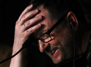 Lars von Trier at yesterday's press conference in Cannes.