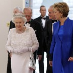 President Mary McAleese and Queen Elizabeth II arrive for the state dinner at Dublin Castle. (Maxwells/PA Wire) PIC: MAXWELLS DUBLIN - IRISH GOVERNMENT POOL PICTURE