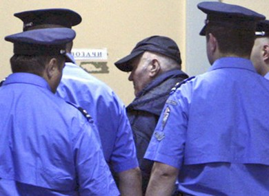 Mladic enters court on Thursday in Belgrade.
