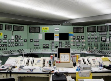 Handout photo dated 22 March 2011 of the control room for Unit 3 at the Fukushima plant.