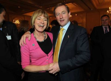 Special Olympics Ireland head Mary Davis pictured with Taoiseach Enda Kenny in March. Davis is seeking an independent nomination to contest the Presidency.