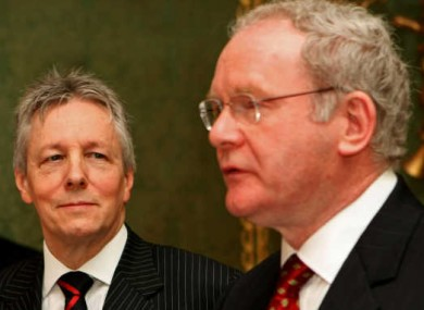 Peter Robinson could be replaced by Sinn Féin's Martin McGuinness as Northern Ireland's First Minister, though the prospect is not likely.