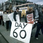 A H-Block rally on Dublin's O'Connell Street during the Bobby Sands hunger strike. Pic: Photocall Ireland