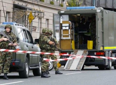 The Army Explosive Ordnance Disposal unit at Amiens Street