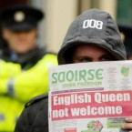 Protestors demonstrate against today's royal visit of Queen Elizabeth II to Croke Park in Dublin. (Pic: Niall Carson/PA Wire/Press Association Images)