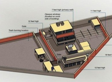 Diagram of the Bin Laden compound