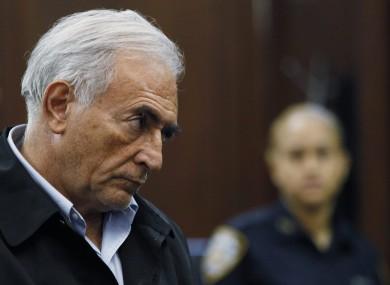 Strauss-Kahn at his arraignment on Monday in Manhattan Criminal Court