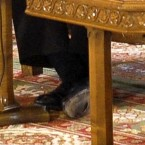 Head of the IMF mission to Romania Jeffrey Franks is spotted with a hole in his shoe<span class=