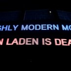 A neon sign announces the death of Osama Bin Laden at Times Square, New York. (Pic: Shameel Arafin/Demotix/PA)