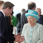 Ryan Tubridy charms Queen Elizabeth II at the Guinness Storehouse, Dublin. (Pic: Maxwells)