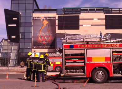 Three units of Dublin Fire Brigade were called to The Wright Venue yesterday