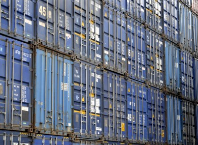 File photo of containers at Dublin Port