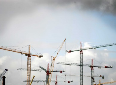 Cranes fill the Dublin skyline during the boom in 2005