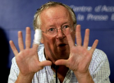 British Middle East news journalist Robert Fisk.