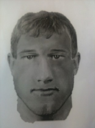 A photofit of the man suspected of attacking a woman in Ballymount Park on 30 May 2011.