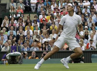 Rafa Nadal: up and running.