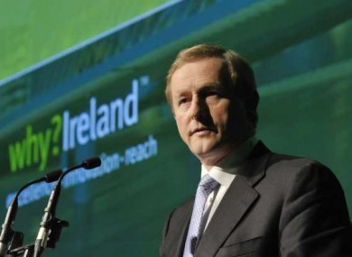 Taoiseach Enda Kenny delivering his keynote address to the IFIA conference today.