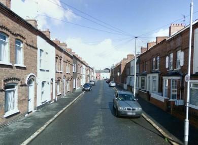 Hawthorn Street in west Belfast.