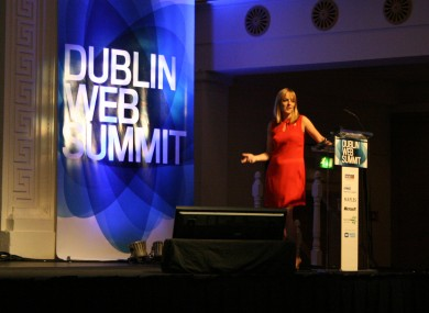 Jennifer O'Connell speaking at the Dublin Web Summit