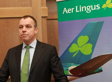 Aer Lingus chief executive Christoph Mueller has said failure to resolve a pilots' dispute could see all flights cancelled by Tuesday.