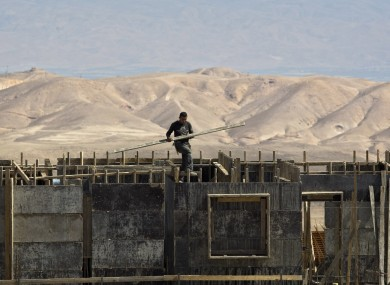 Work continues at a construction site in Ma'ale Adumim, where one Jewish settlement is to be named 'Obama'.