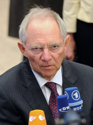 Wolfgang Schäuble has acknowledged that Greece needs help - but wants its bondholders to chip in with the rescue effort.