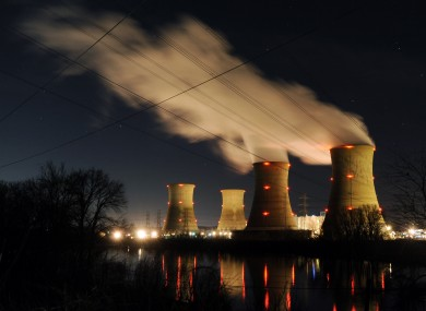 The Three Mile Island nuclear power generating station, pictured March 28.