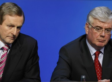 Enda Kenny and Eamon Gilmore in March