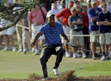 Tiger Woods hurt at Augusta.