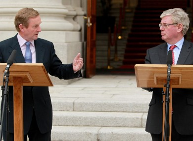 How has it been for you? Enda Kenny and Eamon Gilmore at a recent press conference.