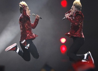 Jedward perform at last month's Eurovision.