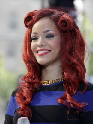 Rihanna after a performance on NBC Today television