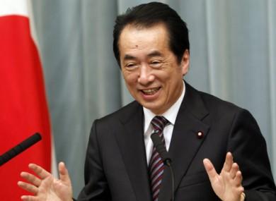 Japan's Prime Minister Naoto Kan today in Tokyo.