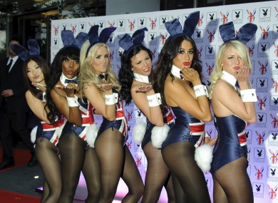 Playboy Bunnies attend the launch party of the Playboy Club in Mayfair, London last night.
