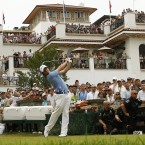 McIlroy drives from the 10th tee.