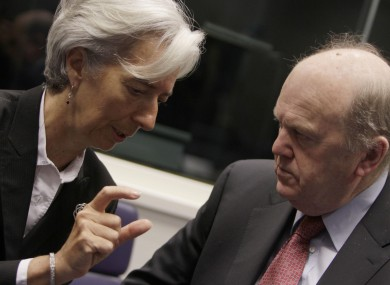 Lagarde and Noonan in Luxembourg earlier today.