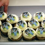 Rory McIlroy cup cakes for sale in his hometown of Holywood, Co Down after his US Open win (AP Photo/Peter Morrison)