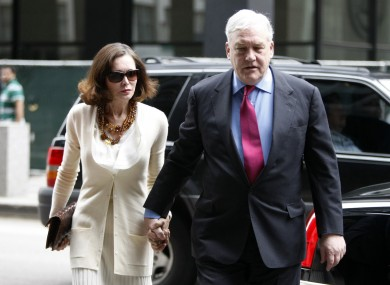 Conrad Black arrives at Federal Courthouse with his wife Barbara Amiel ahead of his re-sentencing hearing.