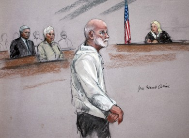 James 'Whitey' Bulger in court in Boston last week.
